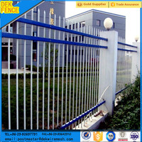 Exporting Standard PVC Coated Brick wrought Iron Fence