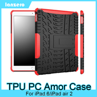 Colorful TPU PC Hybrid Armor Case For iPad 6/iPad air 2 Shock&Bump&Scratch-Resistant,Best Protector for Tablet