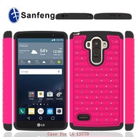 cell phone case for lg g stylus ls770 with jewel fashion style