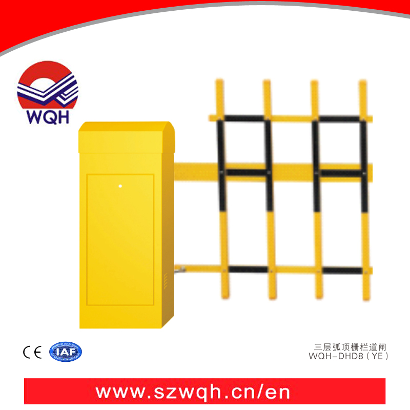 security barrier gate with fence Remote Control Car Parking System Barrier Traffic road barrier for car parking