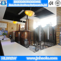 200L Draught beer brewing equipment, Red copper Pub-brewery brewing beer system