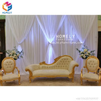 High quality new style cheap price luxury wood red wedding chaise