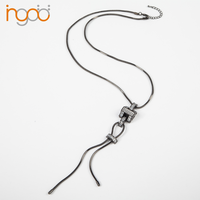 Long black necklace costume necklace jewelry wholesale stores china dongguan