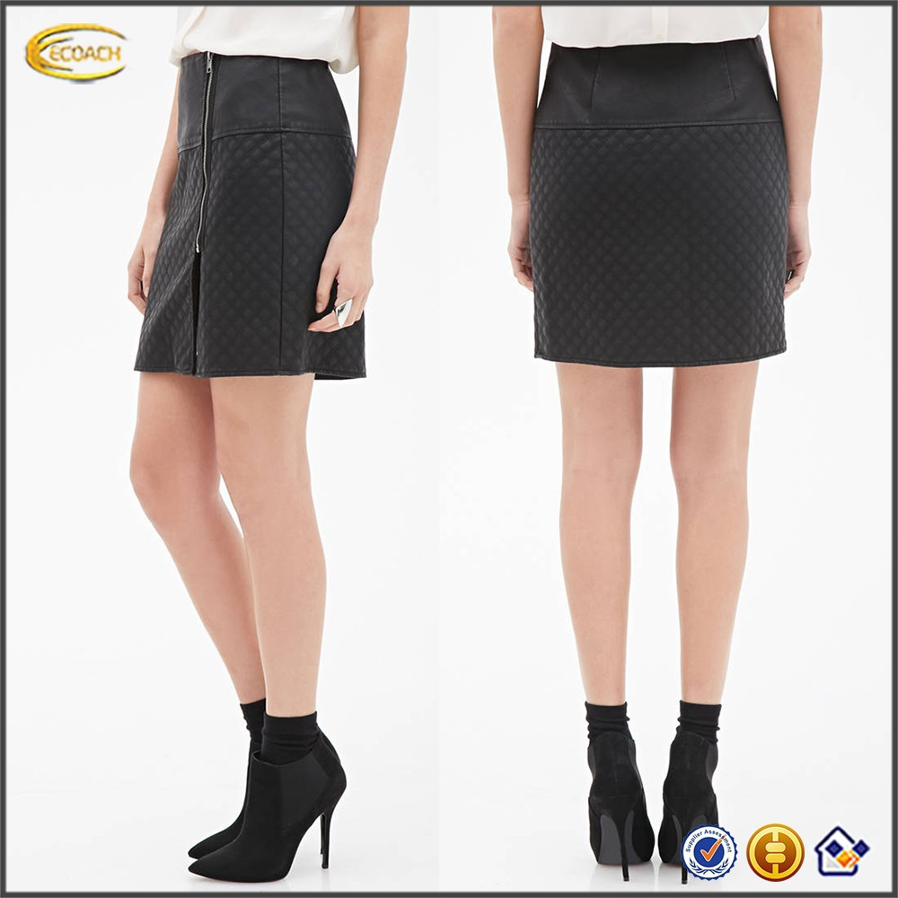 Ecoach ladies skirt China manufacturer high quality OEM service wholesale ladies custom leather pencil skirt