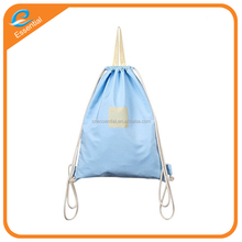 New style eco-friendly sports organic cotton canvas drawstring backpack