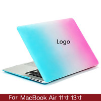 Fashion Matte Rainbow Hard Laptop Protector Case For MacBook Air 11inch 13inch