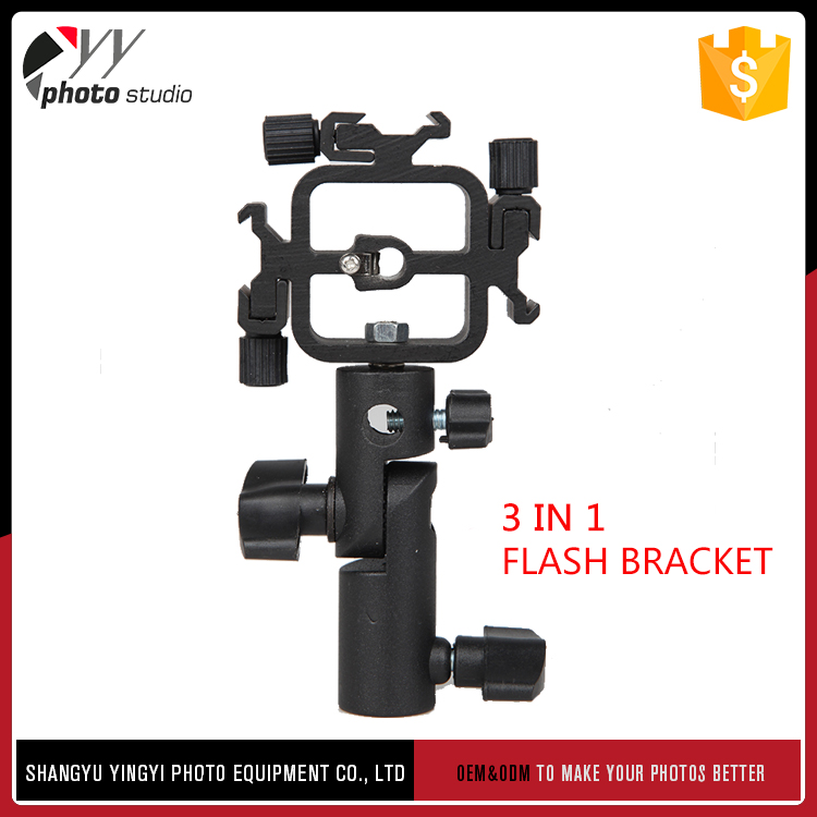 Cheap hot sale top quality quick flip rotating flash bracket for digital slr cameras