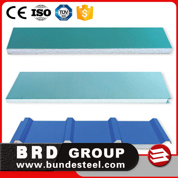 galvanized steel waterproof exterior wall siding panel of eps sandwich panel