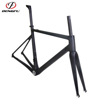 2017 dengfu frame popular customized carbon road bike frame disc brake for sale