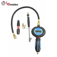 5 Kits Tire care tools kits Pro Digital tire inflator with hose quick coupling chuck kits tire tread depth gauge