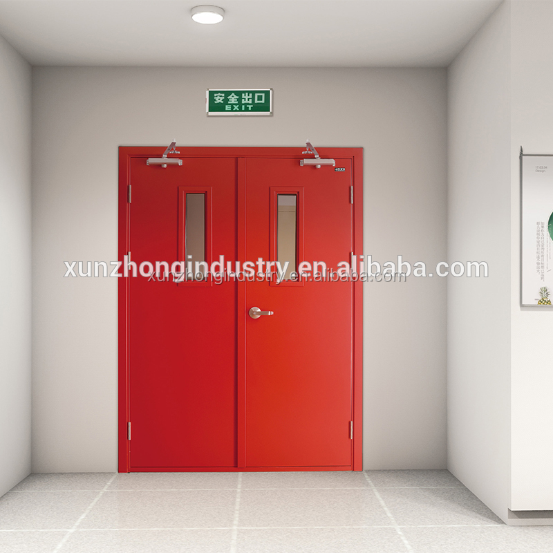 3 hour fire rated double swing steel fire doors
