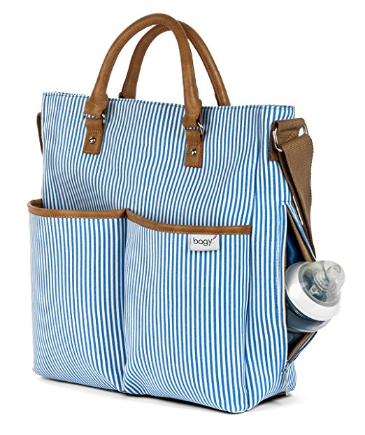 Stylish Baby Travel Striped Diaper Nappy Bag Changing Bags