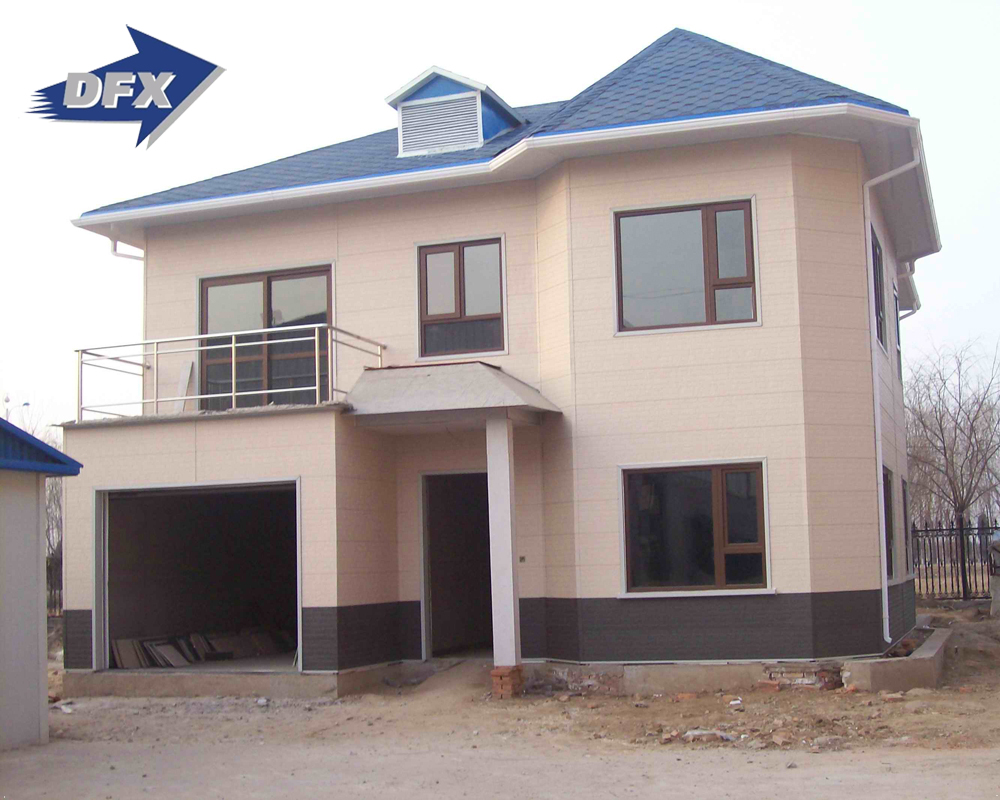 Qingdao well design steel frame sandwich panel family living prefabricated house