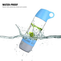 1 Channels and Mobile Phone,Portable Audio Player Use 2 in 1 Sport Water Bottle Bluetooth Speaker
