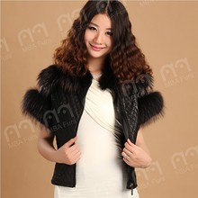 MBA Furs latest new style sheepskin fur with fur cuff