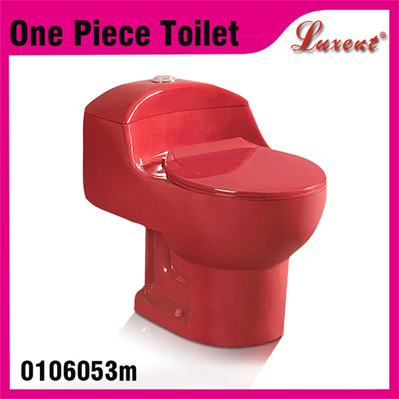 South anerica self cleaning top button porcelain siphonic red toilet bowl with great price