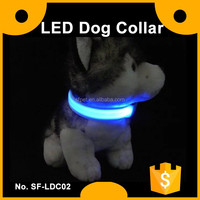 Nylon Led Flashing Dog Collar with 3 Flashing Modes 6 Colours