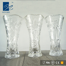 Factory Supply Elegant White Glass Crystal Wedding Vase
