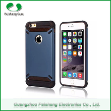 Wholesale Matte Finish TPU PC Material 12 Colors Double Cell Phone Case for iPhone 6/ 6S Mobile Phones with window