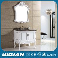 Manufacturer Marble Top Solid Wood Bathroom Vanity