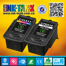 100% guarantee remanufactured inkjet cartridge for canon 510