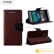Newest arrive flip fancy diary wallet leather case cover for htc new one m8
