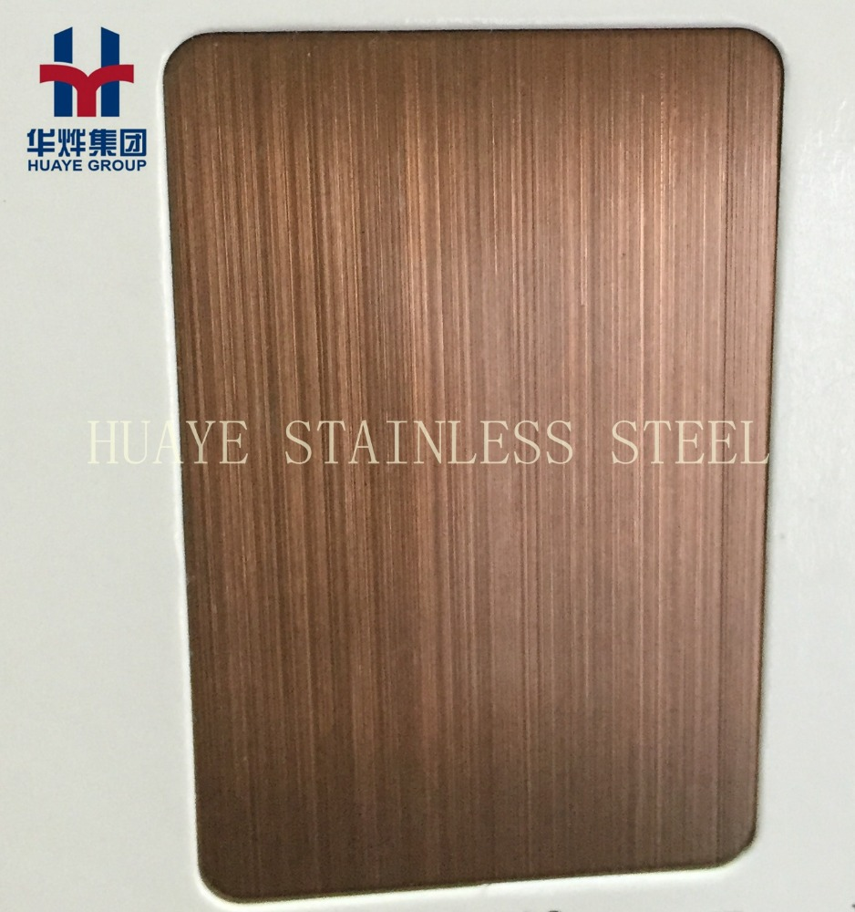 Copper Bronze Stainless Steel Colored Sheet Plate For Decoration Hairline Brushed Finished