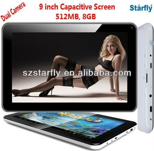 Hot 9 inch Capacitive Screen tablet android 4.0 Q9 Allwinner A13 8GB Android tablet PC