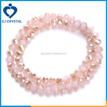 Faceted crystal loose beads in bulk rondelle beads