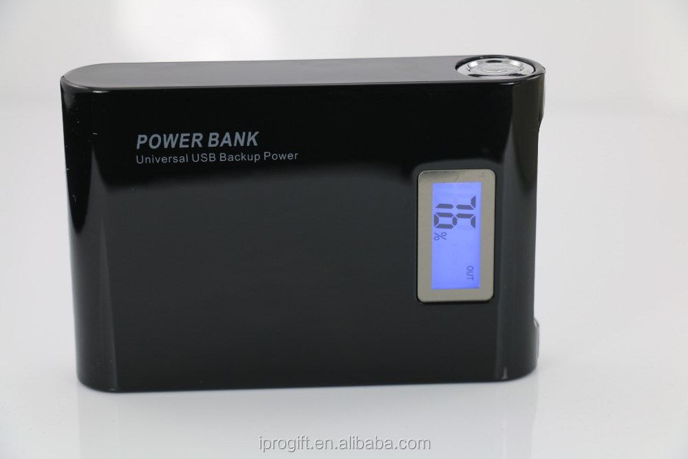 8000mAh Portable phone Charger Power Bank with Grade A 18650 battery