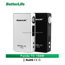 Bullvapor USA hot selling cigarettte electronique elegant cigarro electronico durable cigarros electricos Panda TC 150W Box Mod