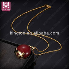 Wholesale cheap custom made necklace with many ceramic stone in red tiger eye color