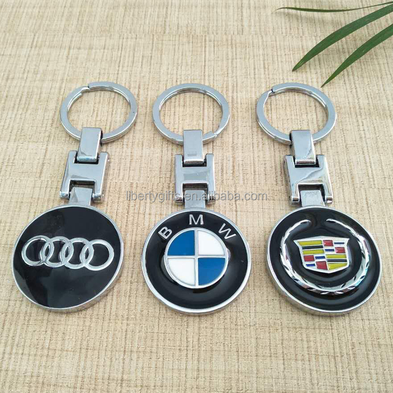 promotional car logo metal keychain