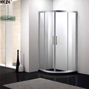 Corner Bathroom Custom Curved Glass Sliding Shower Door With Glass