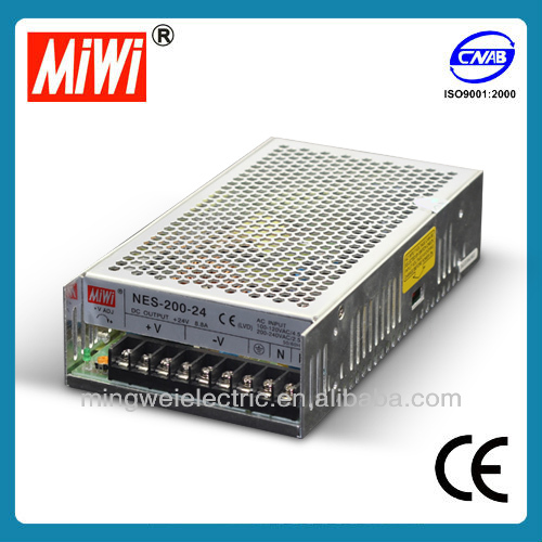 MiWi NES-200-7.5 Industrial Single Output SMPS AC DC Switching Power Supply (12v 24v 36v 48v) constant voltage led driver