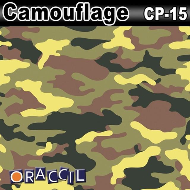 Car Clothes CP-15 1.52*30m air free bubbles PVC car wrap desert camouflage vinyl rolls wholesale