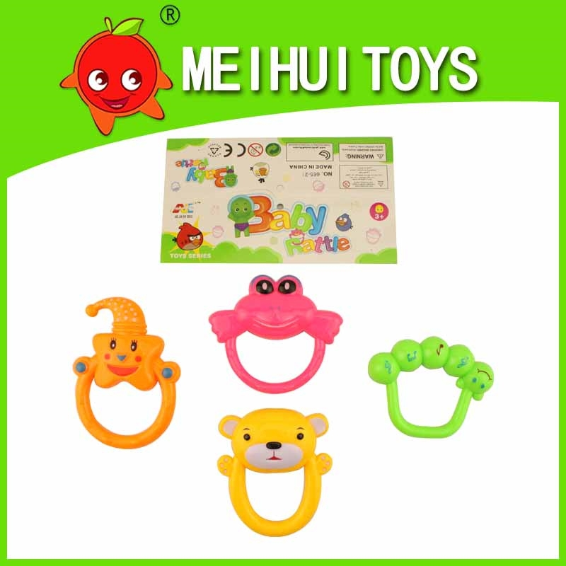 Eco-friendly plastic baby rattle baby toy for kid