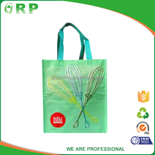 ISO/BSCI Unique design light green eco friendly shopping pp non woven fabric bag