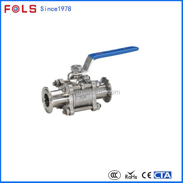 High quality NPT threaded 3pc reduced bore ball valve