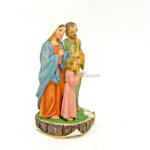 Resin standing holy family handmade painted decorative painted jesus mary