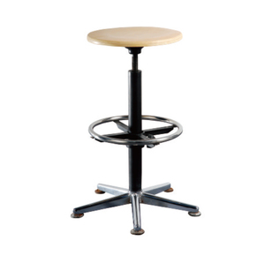 Steel Frame Office Swivel Chairs with Wood Top