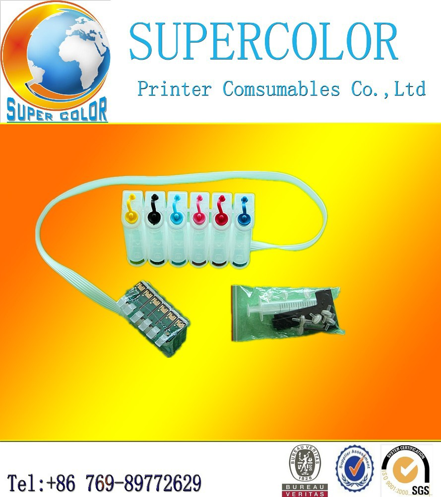 Supercolor Brand 4 COLORS Bulk Continuous Ink Systerm for Epson Stylus Photo 1400 PX700W PX800FW CISS
