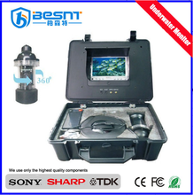 "Professional High-end 200m underwater fishing camera 360 Degree with 7"" LCD Color Monitor real time video recording BS-ST05D"