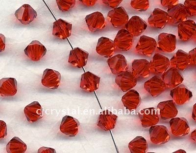 China Rocailles 6mm Crystal Bicone Beads