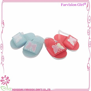 Seaside Doll Sandals Blue And Red Bikini Mathing fashion doll shoes