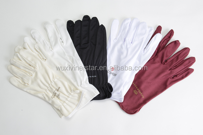 microfiber lint free jewellery gloves