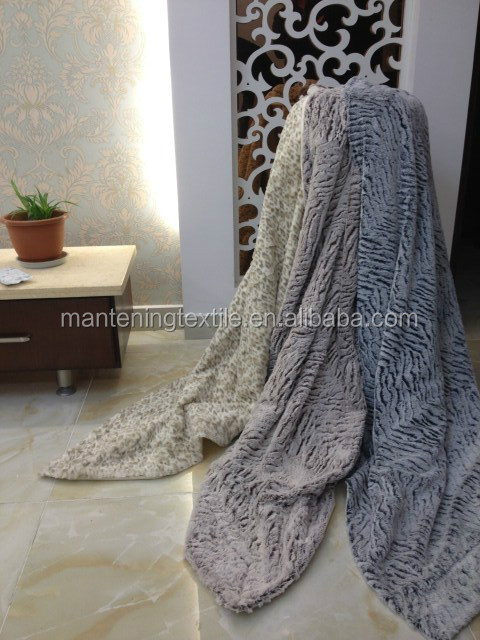 yiwu textile supplier warm keeping supersoft material 2ply pv plush blanket