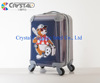 2016 Customized Promotional Gifts Royal Trolley Luggage and Clear Shell PC Luggage