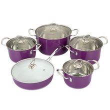 high quality stainless steel porcelain coated cast iron cookware