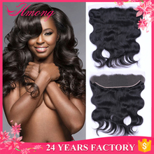 "Top Quality Soft And Smooth 13"" X 4"" Free Parting Body Wave Full Lace Frontal Closure With Baby Hair"